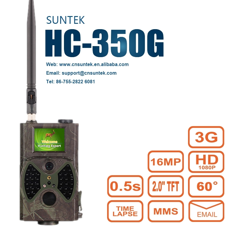 HC350G Hunting Trail Camera 3G HD 16MP 1080P Video Night Vision MMS GPRS Scouting Infrared Game Hunter Cam hunting trail game free shipping ip56 waterproof mms gprs night vision trail game hunting camera 0 2s shooting time three sensors cam