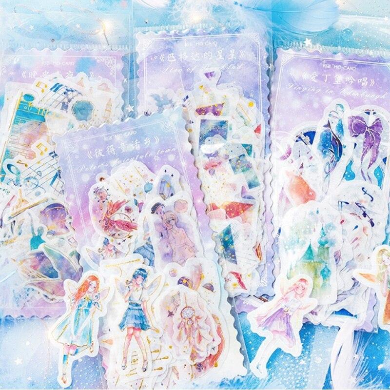 60 Pcs/lot Cute Girls wish series Stickers Kawaii Planner Diary Scrapbooking Sticker Stationery School Supplies
