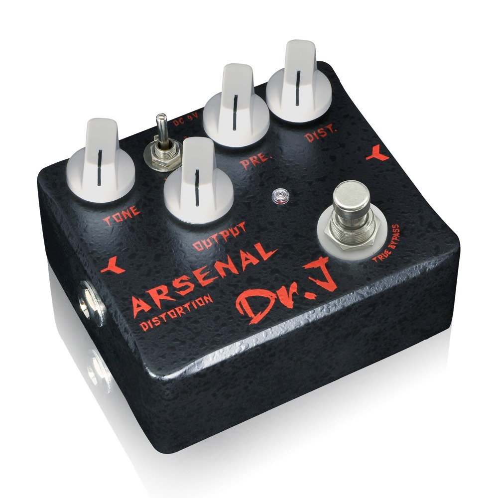 dr j arsenal distortion electric guitar effect pedal overdrive hand made broad tone adjustments. Black Bedroom Furniture Sets. Home Design Ideas