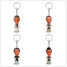 Football star character key ring Ronaldo toy keychain men and women gift car accessories