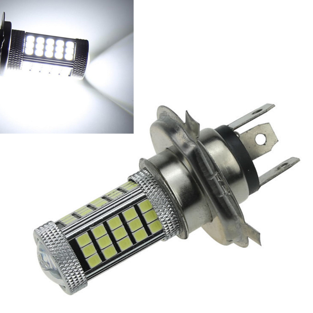 CYAN SOIL BAY Fog Light Car Vehicle Auto H4 HB2 2835 63 SMD High Low Beam Bulb Lamp For DRL 12V 9003 Bright Than 33 SMD White  car vehicle 9006 hb4 2835 63 66 smd 1200lm white bulb fog light for drl 6000k 12v 24v bright than 33 smd