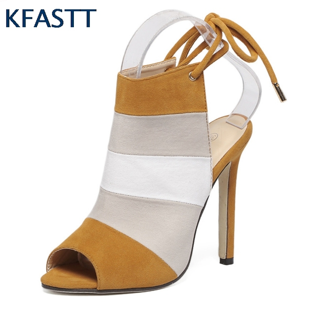 KFASTT 2018 Mixed Color High Heels Shoes Wedding Female Simple Women's Dress Heels Women Shoes