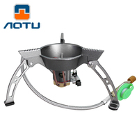 3/5 people Outdoor Portable Mini Camping Stove Gas Stove Camping Gas Burners Folding Picnic Steel Split Burners Equipment