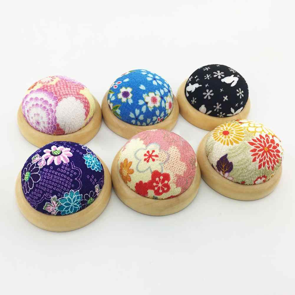 Multicolor 1 Tuoservo DIY Sewing Craft Stitch Wooden Bottom Base Needle Pin Cushion Pillow Holder Tool for Tailor Dressmakers