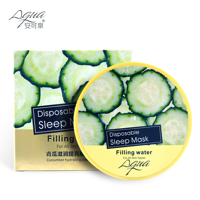 Skin Care Face Mask Green Cucumber Sleep Mask Whitening Cream Skin Care Anti Aging Moisturizing Facial Mask free shipping
