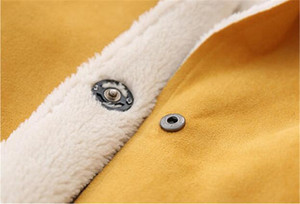 Image 5 - Abrigo de lana para niños y niñas, Chaqueta larga de otoño y primavera