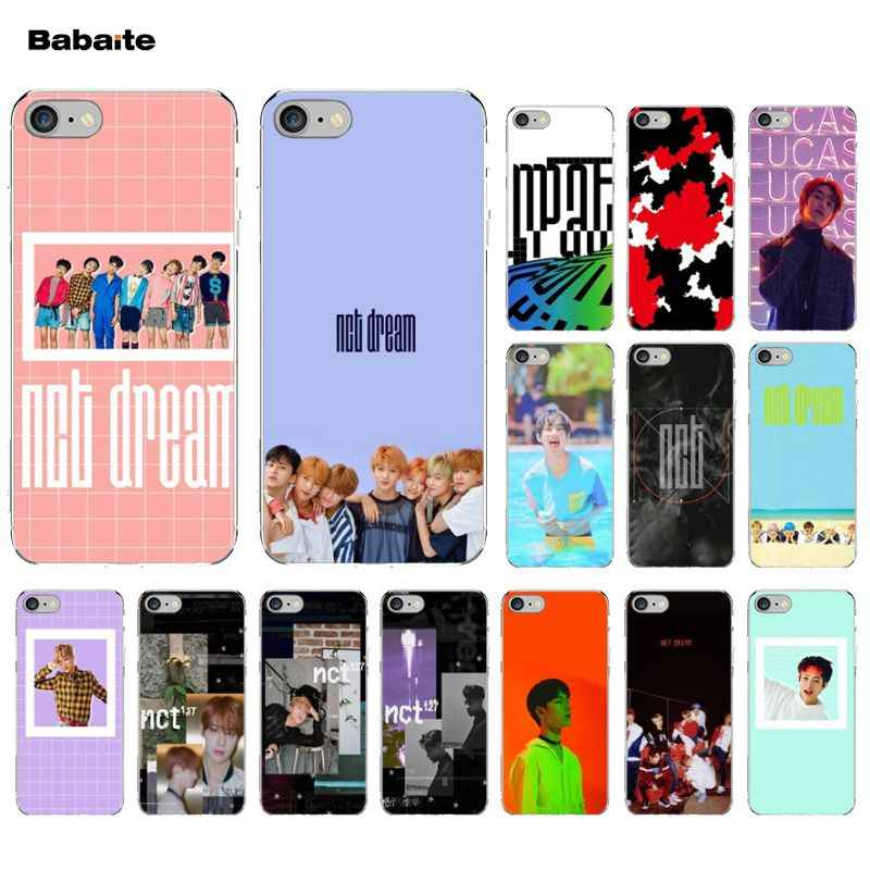 Babaite NCT 127 Kpop Boy  Soft Rubber Transparent Phone Case for Apple iPhone 5 5S SE 6 6S 7 8 Plus X XS MAX XR Mobile Cases