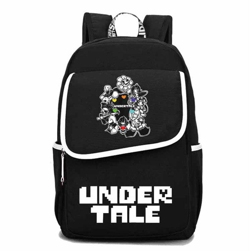 Jeu Undertale voyage sac à dos Sans Papyrus squelette toile sacs d'école grand Bookbag unisexe sac à dos pour ordinateur portable hommes Rugzak 2019 - 6