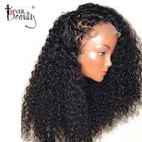Свободные Вьющиеся шелк базовые парики Glueless предварительно сорвал Full Lace человеческих волос парики с ребенком волос 250% плотность бразильск