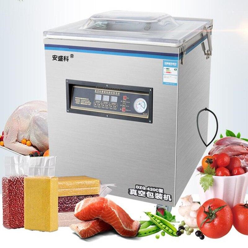 Machine à emballer sous vide commerciale 220 V Machine à emballer sous vide à la fraise scelleur sous vide humide et sec avec 50 pcs sacs 20X30 CM