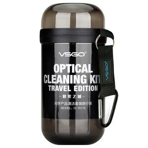 Image 3 - VSGO Kit de limpieza de lente Portable y cámara, traje de viaje para Nikon, Canon, Sony, Fujifilm, limpieza de cámara Digital