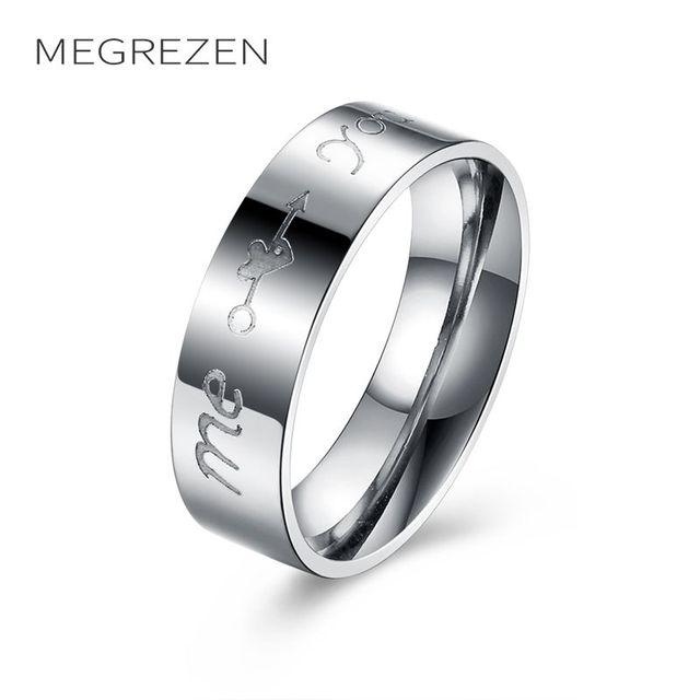 a6cd057afa00 Megrezen anillo de acero inoxidable joyería de traje Anillos para hombres  boda Decoración aneis masculino inox