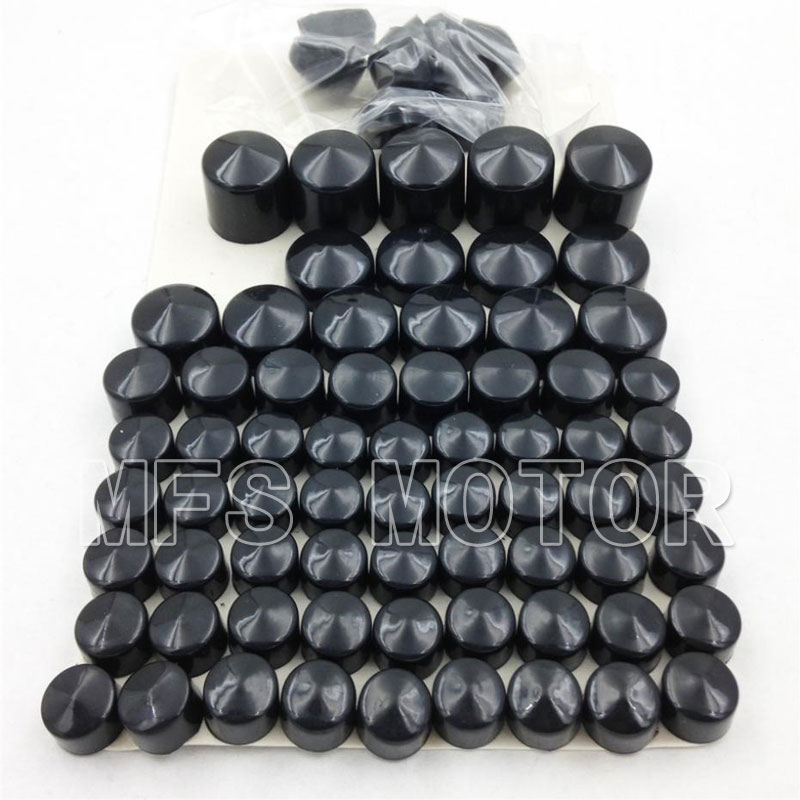 Motorcycle parts Bolts Toppers Caps For Harley Davidson Dyna Glide Twin Cam 1991-2012 Black