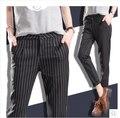 Spring Summer Autumn Women Slim Casual Pants Work Wear Career Black Stripe Pants Straight Pencil Pants Women trousers female