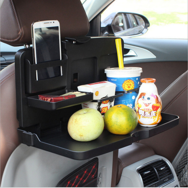 Universal Black Car food tray folding dining table drink holder car