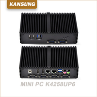 China Thin Client Types Of Personal Core i5 4258U Processor Low Cost Mini Pc 2 Ethernet Fanless Brand New i5 Desktop Computer