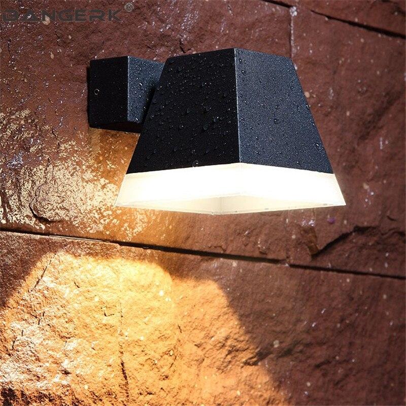 A LED per esterni Lampada Da Parete 5 W IP65 Impermeabile Moderna Riparo Della Parete Luci del Giardino Cortile Complementi Arredo Casa Alluminio Apparecchi di Illuminazione - 4
