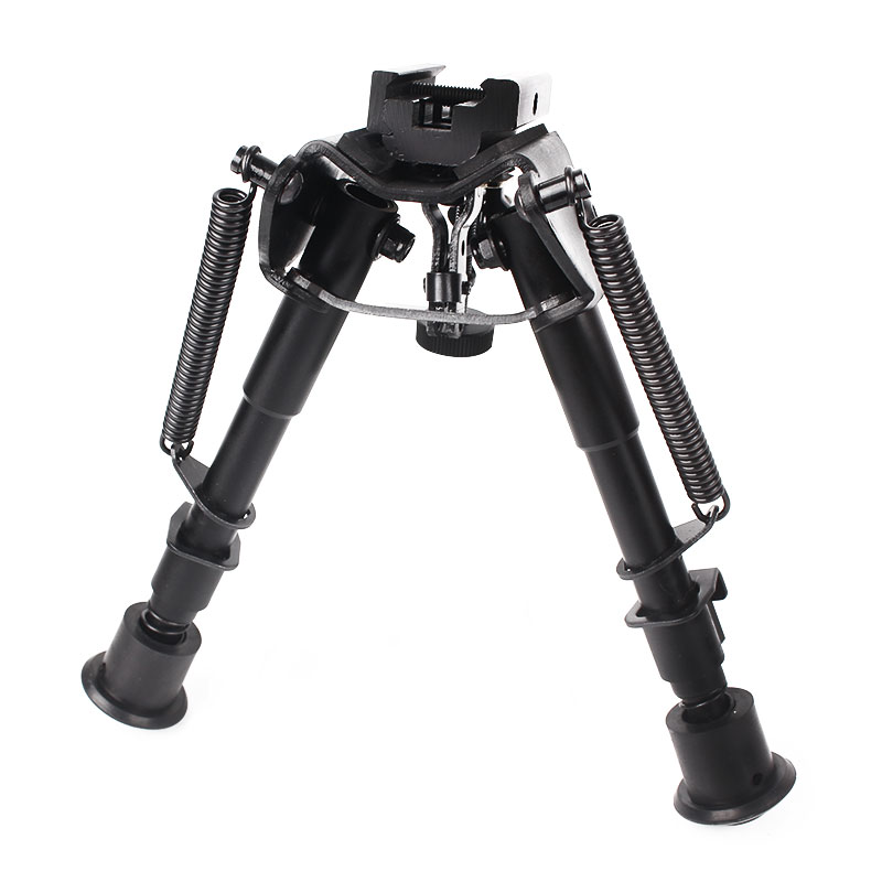 6-9 Inches Adjustable Spring Return Tactical Rifle Bipod Air Gun Accessories with Adapter Riflescope Mount Hunting