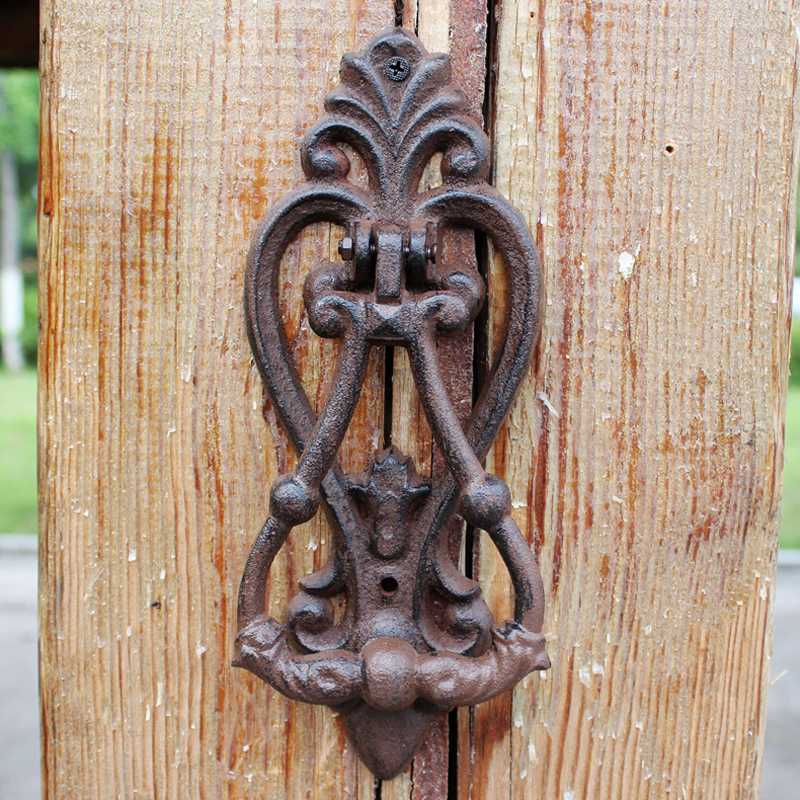 Antique rustique Fleur De Lis Design maison jardin décor en fonte poignée De porte