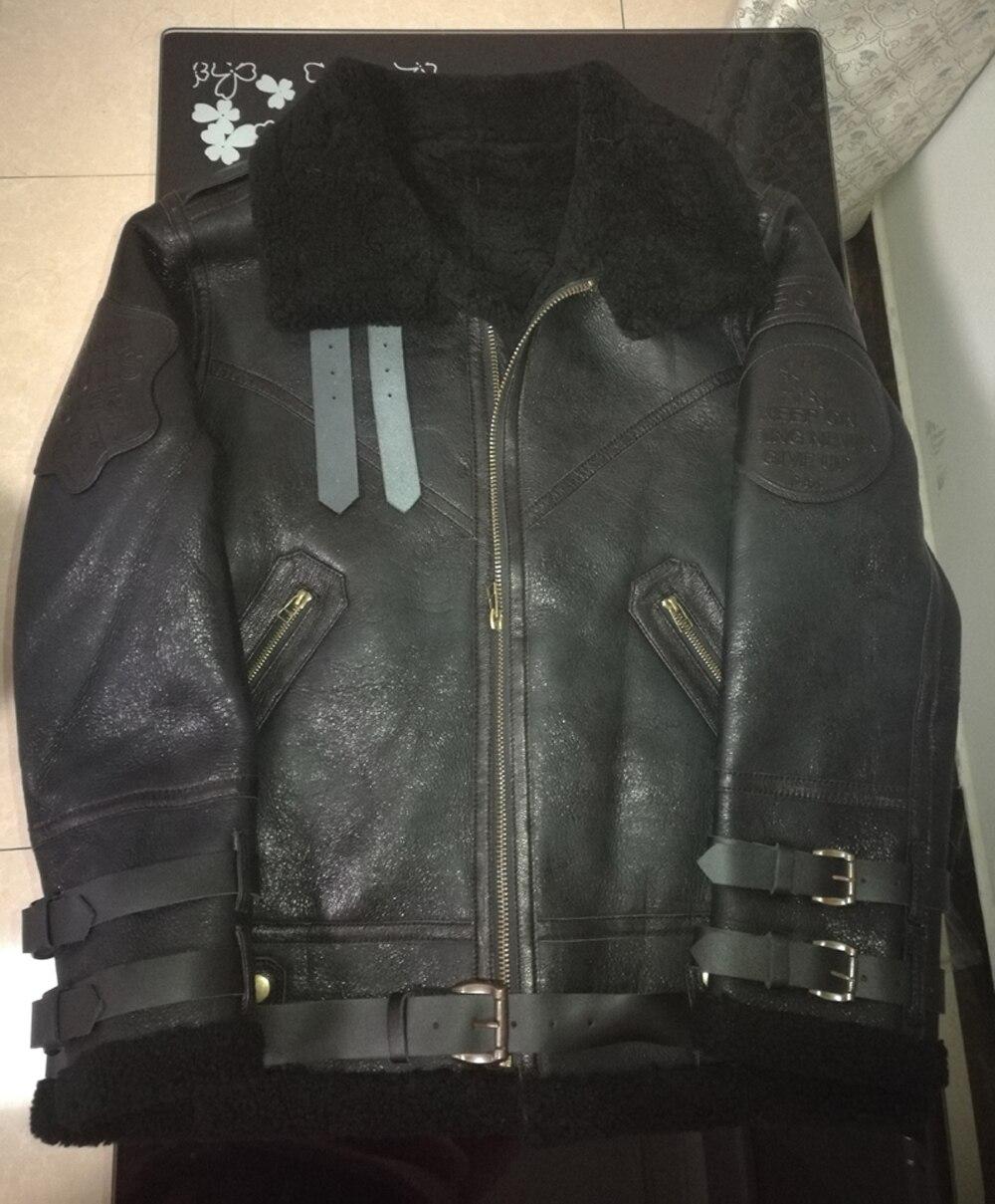 HTB1Sb8iXEY1gK0jSZFCq6AwqXXaL 2019 Fashion 100% Quality Real Sheepskin Fur Men Coat Genuine Full Pelt Sheep Shearling Male Winter Jacket Brown Men Fur Outwear