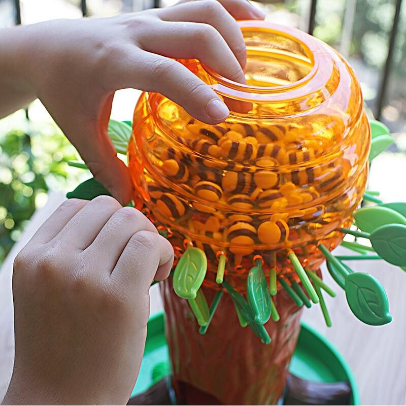Pequena árvore de abelha jogo de tabuleiro interativo crianças pensando formação desktop jogo de festa da família brinquedo