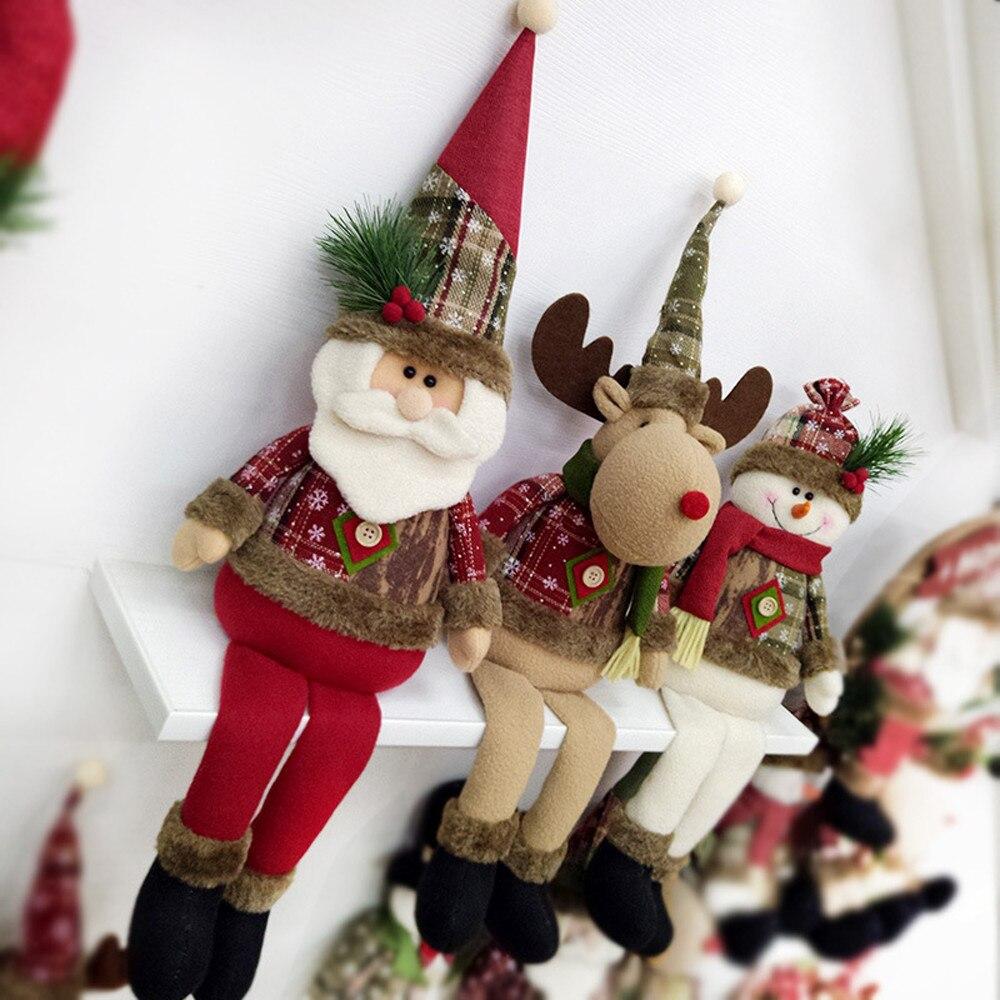 Santa Claus Snowman Tree Door Christmas Decoration For
