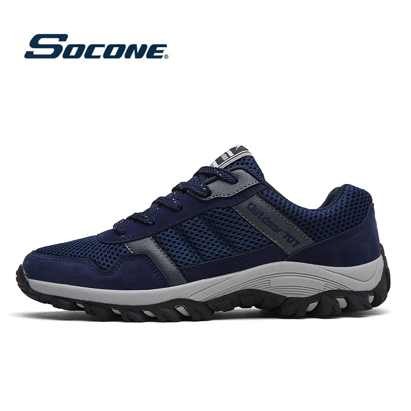 New Men Outdoor Hiking Shoes Men Breathable Sports Sneakers Camping Trekking Sneakers Climbing Outventure Rubber Training Shoes