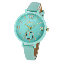 Women Casual Simple Faux Leather Quartz Analog Wrist Watch Ladies Bracelet Hour relogio feminino montre femme Gift for Girls