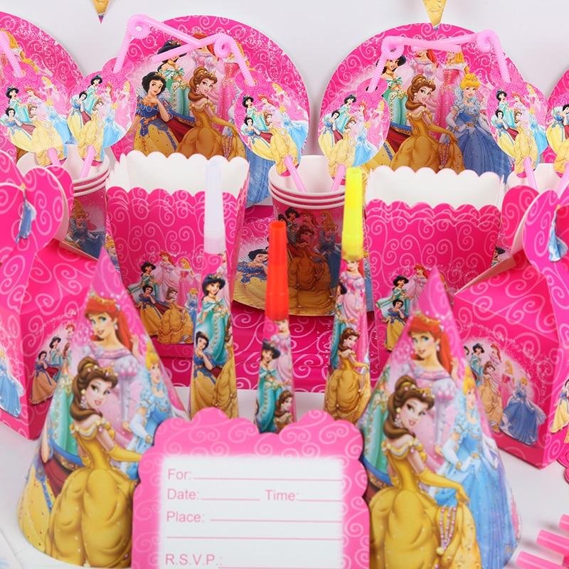 89Pcs Sofia Princess Girl Kids Birthday Party Supply Decoration Plates Hats Cups
