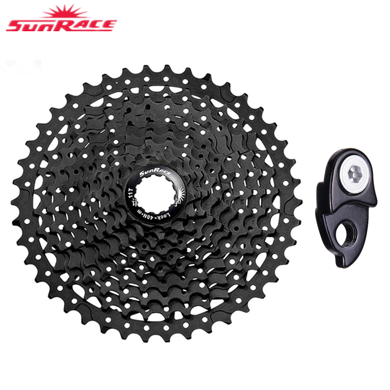 sunrace 11-42T 11-40 10 Speed 10s Wide Ratio MTB Mountain Bike Bicycle Parts Bike Sprockets Give Adapter image