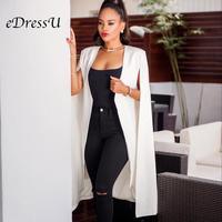 Plus Size Women Blazer Elegant Long Cloak Coat High Quality Cape White/Black/Burgundy Color Office Daily High Street ZSC G013