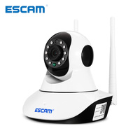 ESCAM 720P P2P WiFi IP Camera Night Vision Pan Tilt Function Support ONVIF Max Up to 128GB Video Monitor ip camera
