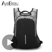 Водонепроницаемый USB Противоугонный Рюкзак Для Ноутбука Мужской с зарядкой для подростка мужской Школьный Рюкзак Для школы Сумка рюкзак