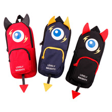Creative little devil pen case  student stationery High capacity pencil pouch
