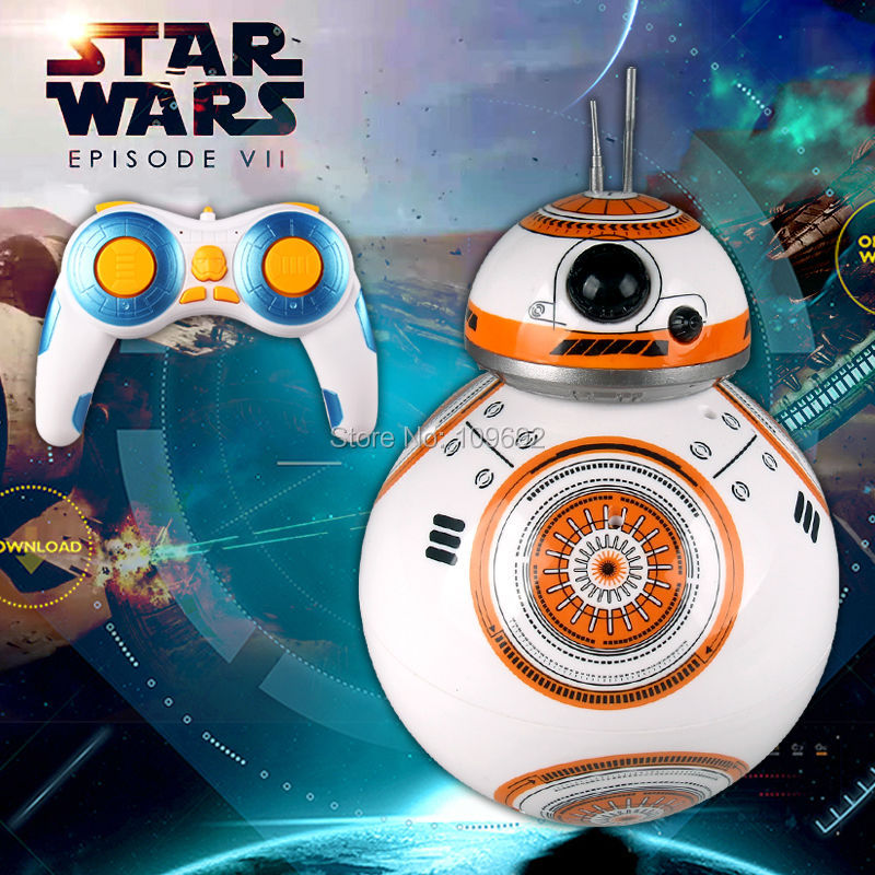 ФОТО Free Shipping BB 8 Star Wars RC BB-8 Droid Robot 2.4G Remote Control BB8 Action Figure Robot Intelligent Ball Toys For Children