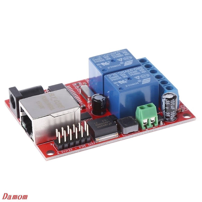 LAN Ethernet 2 Way Relay Board Delay Switch TCP/UDP Controller Module WEB Server Damom lan ethernet 2 way relay board delay switch tcp udp controller module web server n27