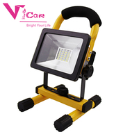 Outdoor Portable 10W 20W 30W 50W usb Rechargeable Battery Outdoor LED Flood light wrok light