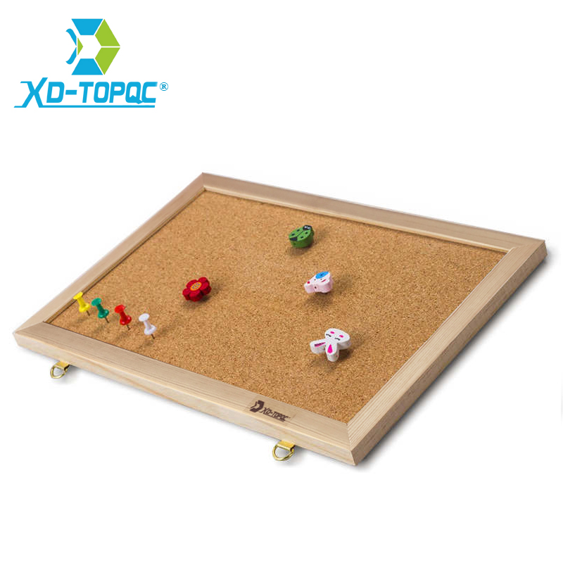 20*30cm New Bulletin Message Board Pine Wood Frame Cork Boards Be Hanging For School Home Office Nail Style With Push Pins