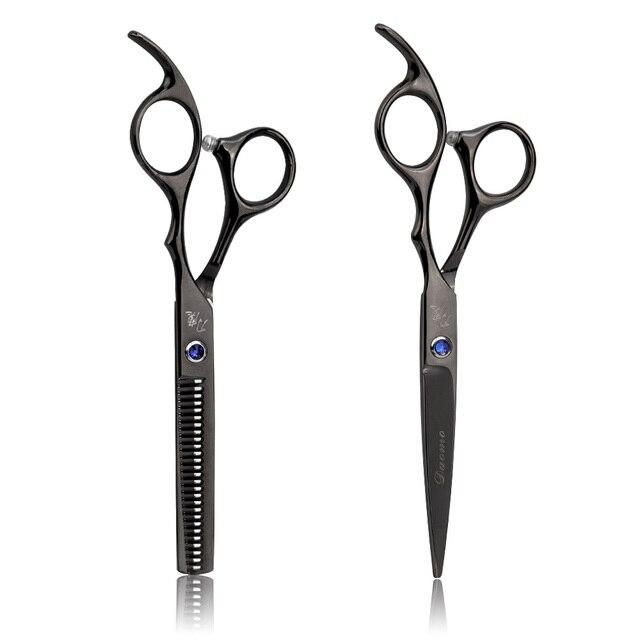 Tijera de pelo 2 piezas profesional de corte de pelo de 6 pulgadas Kit de adelgazamiento de alta calidad herramientas de peluquería de acero inoxidable para peluquería