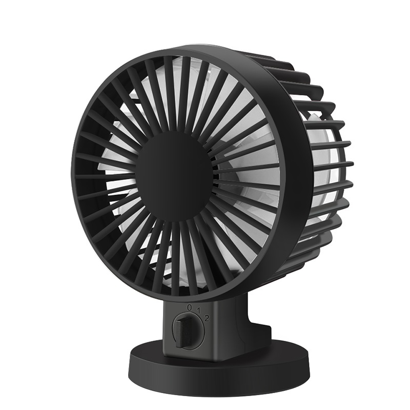 Ultra-quiet Mini USB Desk Fan Office Mini Fan Silent Desktop Fan With Double Side Fan Blades Creative Home K22