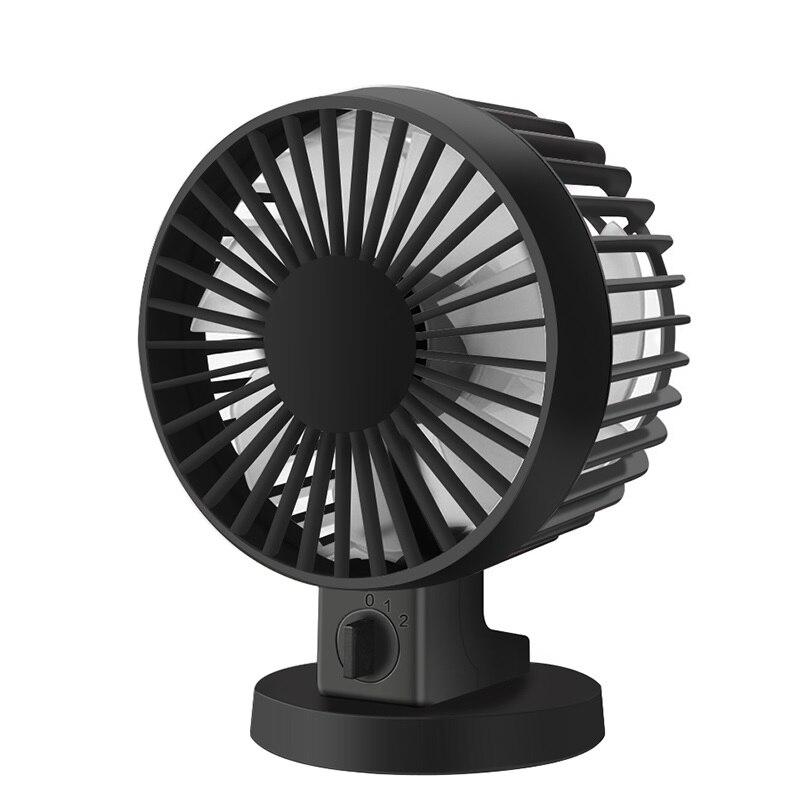 Ultra silencioso Mini USB escritorio ventilador Oficina Mini ventilador de escritorio silencioso con doble ventilador lateral hojas hogar creativo k22