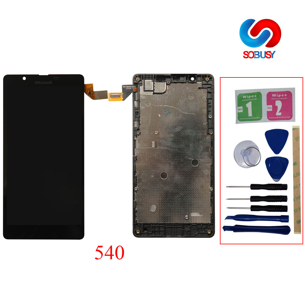 Touchscreen For <font><b>Microsoft</b></font> Nokia <font><b>Lumia</b></font> <font><b>540</b></font> RM-1141 LCD Display Touch <font><b>Screen</b></font> Digitizer Assembly With frame repair <font><b>replacement</b></font> part image