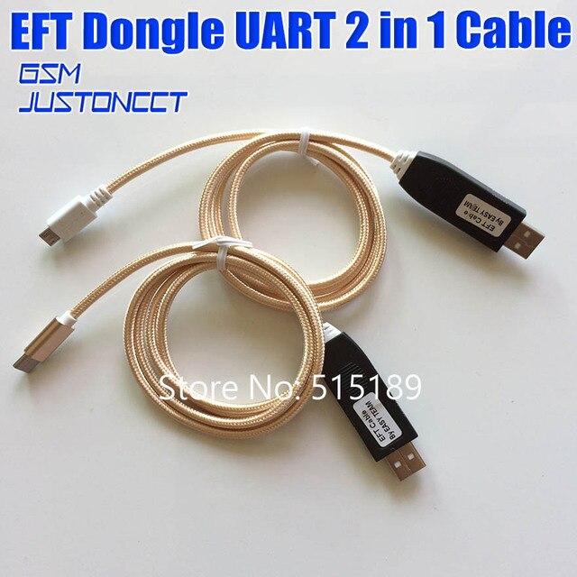 2018 Новости 100% оригинальный EFT ключ от EASY TEAM/EFT кабель Серийный UART 2 в 1