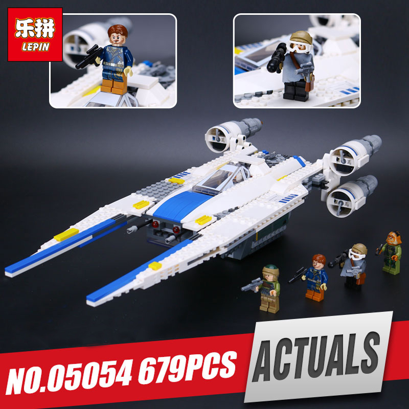 Lepin 05054 Genuine Star Series U-toy Wing Fighter Set Educational Building Blocks Bricks War Toys legoing 75155 for kids' Gift конструктор lepin star plan истребитель повстанцев u wing 679 дет 05054