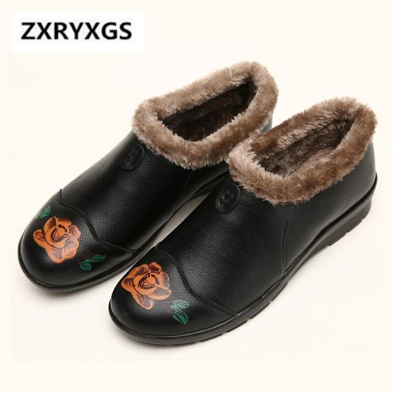 Las La 2018 Antideslizante De Zapatos Alta Pu Negro Impresión Calidad  Invierno Mujeres Suave Terciopelo Mujer ... b592c60a804d
