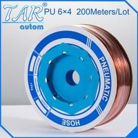 PU Tube 6mm*4mm 200meter/roll) pneumatic tubes pneumatic hoses Polyurethane tube plastic hose air hose PU pipe PU hose golden