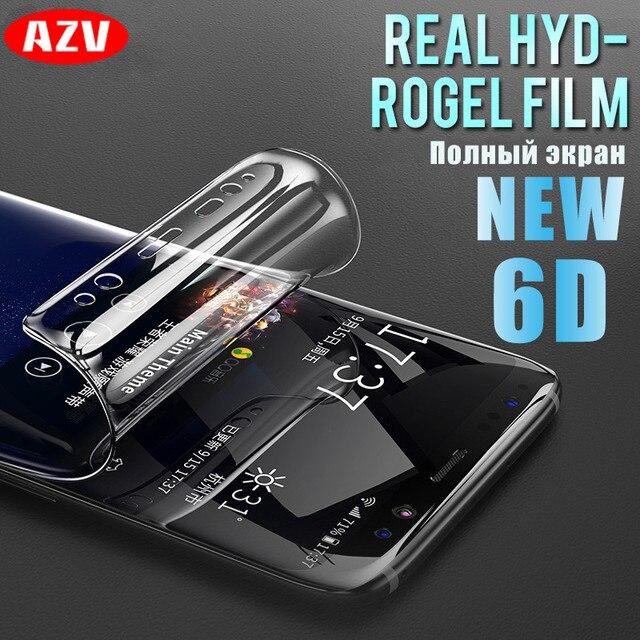6D מלא כיסוי רך הידרוג 'ל סרט לסמסונג גלקסי הערה 8 9 S8 S9 מסך מגן עבור סמסונג S9 S8 s7 S6 קצה בתוספת לא זכוכית