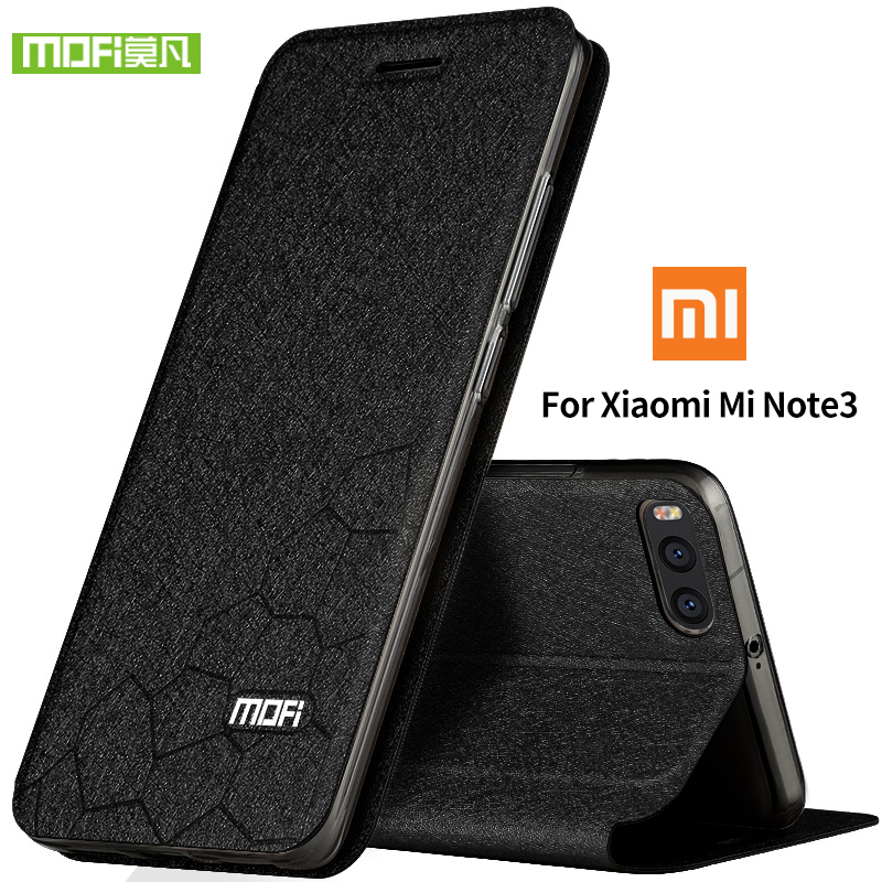 For Xiaomi Mi Note 3 Case Cover xiaomi mi note 3 pro Silicon Luxury Flip Leather Original MOFI Xiaomi Mi Note 3 Case 360 protect