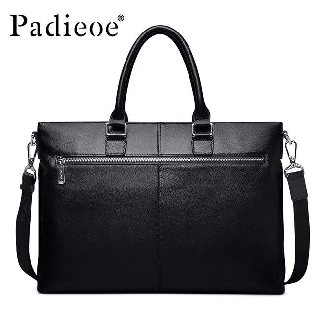 327afe84c9ecf Lüks tasarım iş adı marka çanta erkekler omuz çantası evrak deri çanta  laptop çantası moda erkek