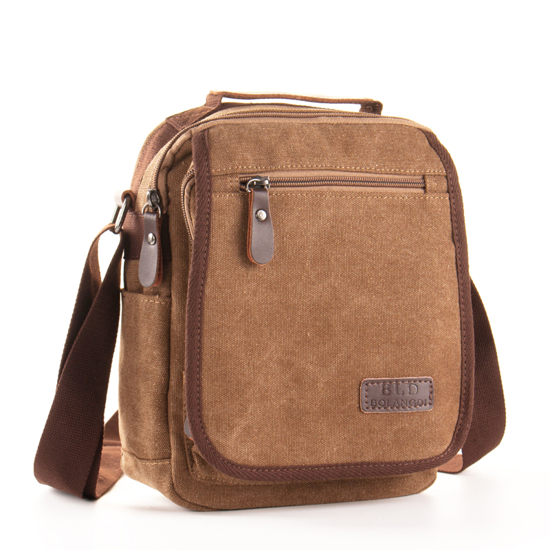 купить BLD Brand 2018 NEW Casual Canvas Bag Men Messenger Bags Casual Men's Travel Bag Business Crossbody Bags Shoulder Handbags 8031 по цене 976.44 рублей
